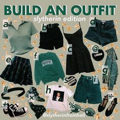 While I was not sorted into Slytherin I can appreciate a very cute outfit While I was not sorted into Slytherin I can appreciate a very cute outfit mode Grunge Outfits, Grunge Fashion, 90s Fashion, Fashion Outfits, Disney Fashion, Aesthetic Fashion, Aesthetic Clothes, Harry Potter Kleidung, Slytherin Clothes
