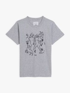 t-shirt mixte brodé Carne Bollente chiné gris | agnès b. T Shirt, Mens Tops, Collection, Fashion, Gray, Woman, Supreme T Shirt, Moda, Tee