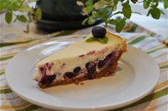 My new summer dessert from @Jessica Collins :: Blueberry Lemon Goat Cheese Cheesecake at jessicacollins.com
