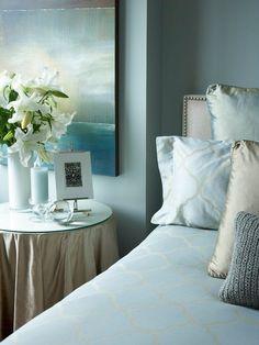 Pale blue room