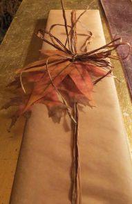 podzimní balení dárečků