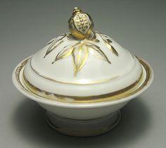 Old Paris Porcelain Pomegranate Finial