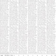 Riley Blake - The Cottage Garden Newspaper Print Gray - cotton fabric