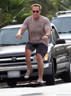 Arnold on an invisible bike