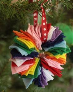 Easy Christmas craft - felt ornaments