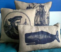 I love the nautical Thomas Paul prints including these  fab cushions. http://thomaspaul.com/index.php