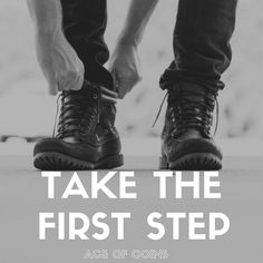 Motto of the Day, Ace of Coins: Take the First Step Very inspiring image <3