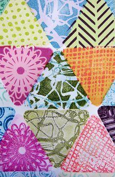 bess gelli plate | Joan Bess: Printing with Gelli Arts®: Mini Gelli® Stamping with Ink ...