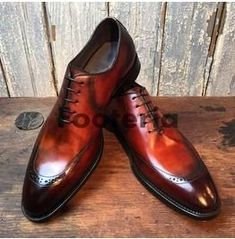 Handmade men leather shoes, brown shaded leather shoe for men, dress formal shoe - Dress/Formal Mens Brown Leather Shoes, Leather Dress Shoes, Men's Shoes, Shoe Boots, Shoes Style, Shoes Men, Formal Shoes, Dress Formal, Gentleman Shoes