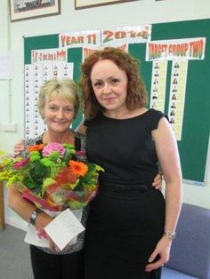 Congratulations to Shelagh Marland at Connahs Quay High School, who has retired after 20 years' service as their head of supply. Here's our very own Emma Roberts saying thank you and congratulations in person to Shelagh