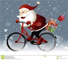 santa-claus-que-monta-una-bici-44310263.jpg (1300×1161)