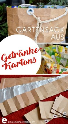 Sewing a bag for the garden from tetrapaks: upcycling DIY Source by Diy Upcycled Art, Recycled Crafts Kids, Crafts For Kids, Diy Crafts, Diy Kleidung Upcycling, Tetra Pack, Upcycled Furniture Before And After, Fun Craft, Diy Recycling