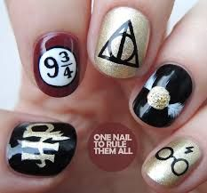 Image result for harry potter nails