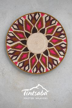 31cm handwoven sisal basket from Tintsaba in Swaziland