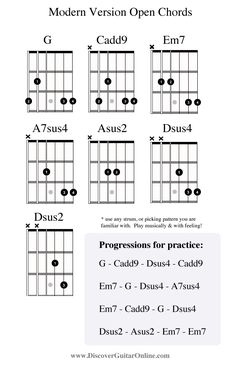 """modern"" version open chords 