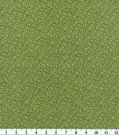 Recuerdo de calicó ™ tela de algodón-Illusions floral verde oliva