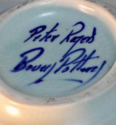 Peter Rogers, Bovey Pottery - signed Pottery Marks, Devon, England, Studio, Tableware, Dinnerware, Tablewares, Studios, English
