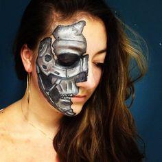 robot face paint