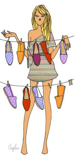 Angéline Mélin #fashion #illustration