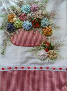 ~ Flower Basket w/ Embroidery ~