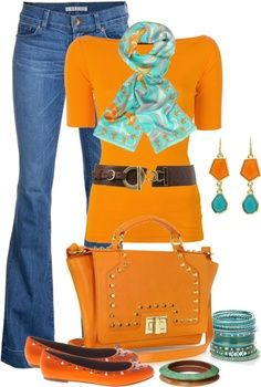LOLO Moda: Superb fashion for women. Love the orange