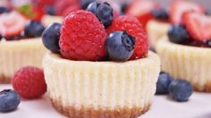 Mini Cheesecakes!  Individual cheesecakes with a graham cracker crust that are quick and easy to make!  These cheesecake cupcakes are bites of mini cheesecake heaven! Like a New York style cheeseca...
