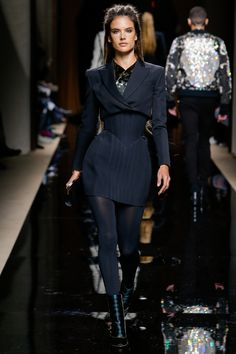 Balmain F/W 2016 Menswear Fashion Show. Model: Alessandra Ambrosio.