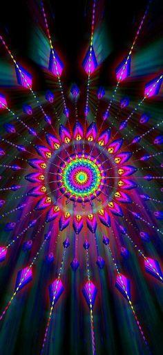 Mandala of light Art Fractal, Psychedelic Art, Optical Illusions, Sacred Geometry, Wallpaper Backgrounds, Geometric Wallpaper, Iphone Backgrounds, Pink Wallpaper, Screen Wallpaper