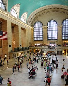 NYC, NY - Grand Central Station, one of the busiest hubs for train transportation in the New York area!