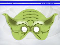Star Wars Mask,master Yoda,party masks,star wars birthday,decoration,template printable,party decoration,pdf,clone wars,free gift от HolidayPartyHall, $3.25