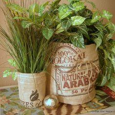 BURLAP Coffee Sack Baskets