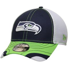 cheap for discount 7e56b 51c5d Seattle Seahawks New Era Tumbled Neo 39THIRTY Flex Hat - Navy White
