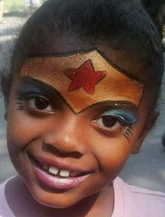 wonder woman face paint www.childrenspartiesnyc.com