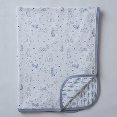 Sketched Bunnies Swaddle Blanket