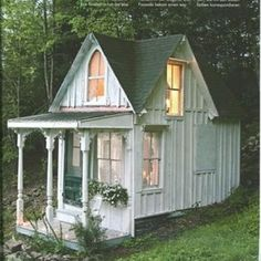 I would love to have this in my back yard as a guest cottage! My granddaughters would have a ball with tea parties!