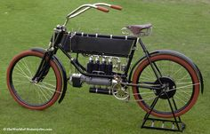 1904 FN Fabrique Nationale Type A Four Vintage Motorcycle Inline Four-Cylinder Shaft-Drive Motorcycle from Herstal, Belgium