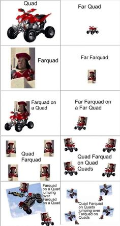 histoire drole quad