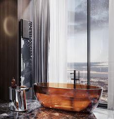 ANTONIOLUPI: Capital Tower in Moscow, luxury apartm . Furniture Styles, Furniture Design, Bathroom Toilets, Bathrooms, Interior Architecture, Interior Design, Luxury Furniture Brands, Luxury Apartments, Bathroom Interior