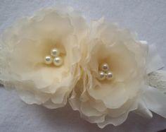 Headband Chiffon flower Accessories headband от IraAccessories