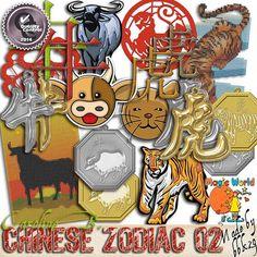 """#Etsy https://www.etsy.com/shop/CarolineBDesign   Chinese New Year, Nouvel An Chinois éléments supplémentaires Zodiaque Tigre/Buffle (Kit numérique pour scrapbook à télécharger) by CarolineBDesign      2,99 USD  Chinese New Year, Nouvel An Chinois éléments supplémentaires Zodiaque Tigre/Buffle (Kit numérique pour scrapbook à télécharger)  Éléments additionnels pour mes kits de la collection """"Chinese New Year"""", celui-ci comprend 26 éléments pour les signes du TIGRE (2010/2022...) e.."""