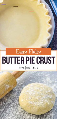 Butter Pie Crust - #recipeforpiecrust All Butter Pie Crust, Easy Pie Crust, Homemade Pie Crusts, Easy Recipe For Pie Crust, Flaky Pie Crusts, Key Lime Pie Crust Recipe, Pie In A Cake Recipe, Pie Crust With Vodka, Gourmet
