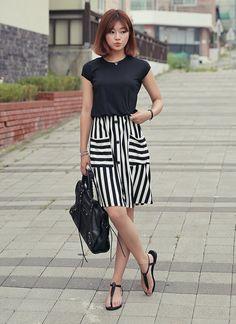 Mock Two-Piece Color-Block Dress