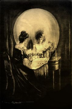 Charles Allen Gilbert, All is Vanity, 1892. My neighbors had this in their hall...I always thought so neat