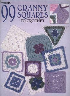 99 Granny Squares - Nicoleta Danaila - Álbuns da web do Picasa...THIS IS A FREE BOOK WITH WRITTEN PATTERNS!!