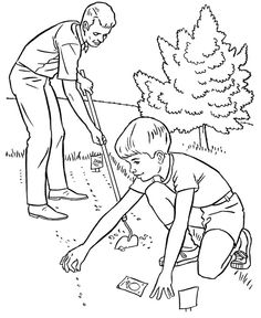 Gardening, helping father spring gardening coloring pages: helping father spring gardening coloring pagesfull size image Kindergarten Coloring Pages, School Coloring Pages, Bible Coloring Pages, Free Coloring Sheets, Free Printable Coloring Pages, Coloring Pages For Kids, Hand Coloring, Coloring Books, Art Drawings For Kids
