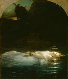 Hippolyte Delaroche - Christian Martyr Drowned in the Tiber During the Reign of Diocletian