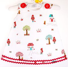 Red riding Hood Dress Baby to Toddler dress everyday by marvieshop, €35.00
