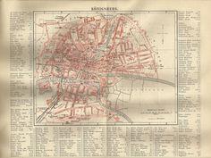 Zum Heranzoomen mit der Maus über das Bild fahren Ähnlichen Artikel verkaufen? Selbst verkaufen Details zu  1887 Königsberg Preussen Alte Landkarte Karte Antique Map