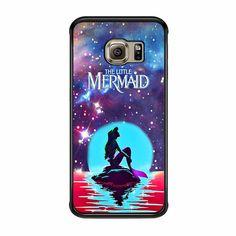 In The Moonlight Nebula Space Ariel The Little Mermaid Samsung Galaxy S6 Edge Case