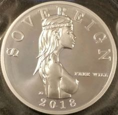 2018 Free Will Sovereign Fine Silver Bullion - Mint Sealed 2018 Free Will Sovereign Fine Silver Bullion - Mint Sealed --How does up to Off your Next Vacation sound to you?--Click the photo for more information Bullion Coins, Silver Bullion, Coins Worth Money, Hobo Nickel, Coin Art, Coin Values, World Coins, Rare Coins, Coin Collecting